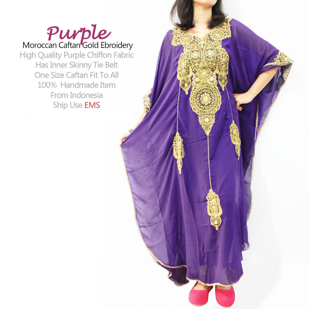 Luxury Purple Caftan, Moroccan Caftan, Purple Kaftan Dress, Wedding ...